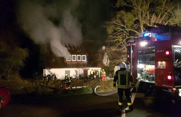 Bückeburg: Brand in leerstehendem Gebäude
