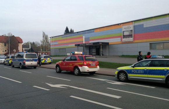 Festhalle Stadthagen wegen Bombendrohung evakuiert