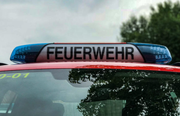 Feuer bei AWS in Sachsenhagen