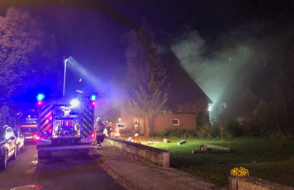 Kellerbrand entpuppte sich als Übung: Feuerwehr-Großeinsatz in Enzen