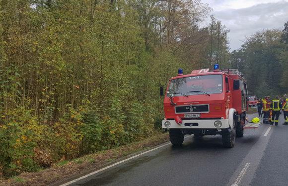 Feuerwehreinsatz bei Verkehrsunfall in Rusbend