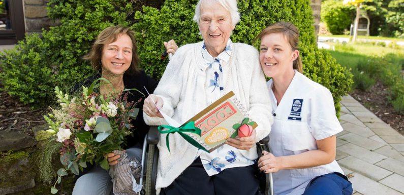 Anne von Kleist-Retzow feiert 100. Geburtstag im Seniorat Bad Eilsen