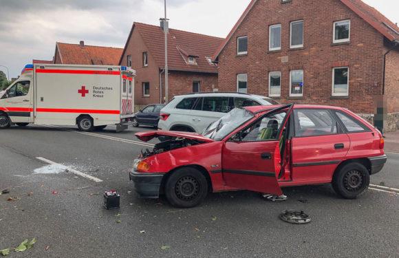B65: Verkehrsunfall glimpflich ausgegangen