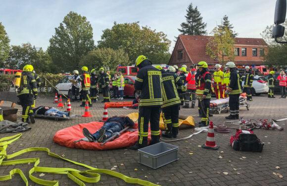 Gefahrstoffszenario sorgt für Großeinsatz: Übung für 160 Einsatzkräfte aus dem Landkreis Schaumburg