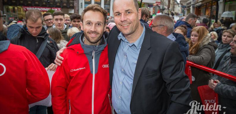 Stadt Minden lädt den Champion ein: DTM-Champion 2019 René Rast auf dem Marktplatz