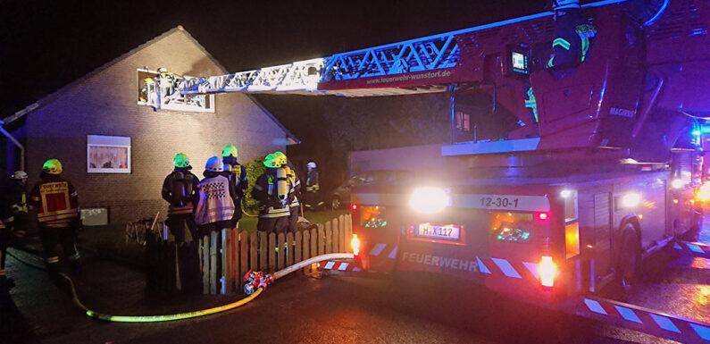 Feuerwehr rettet Bewohner und Katzen