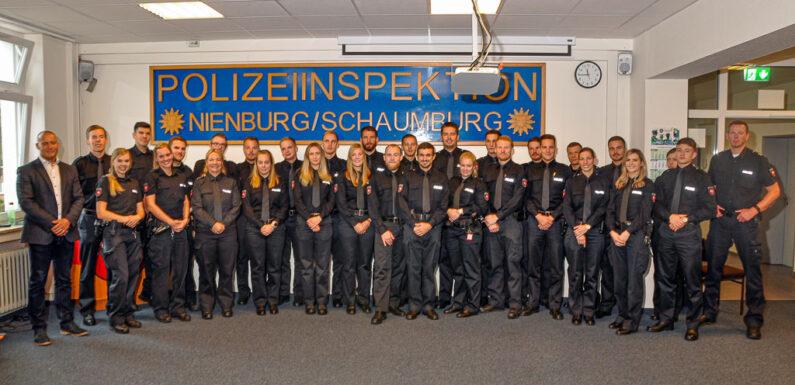 Verstärkung für die Polizeiinspektion Nienburg/Schaumburg