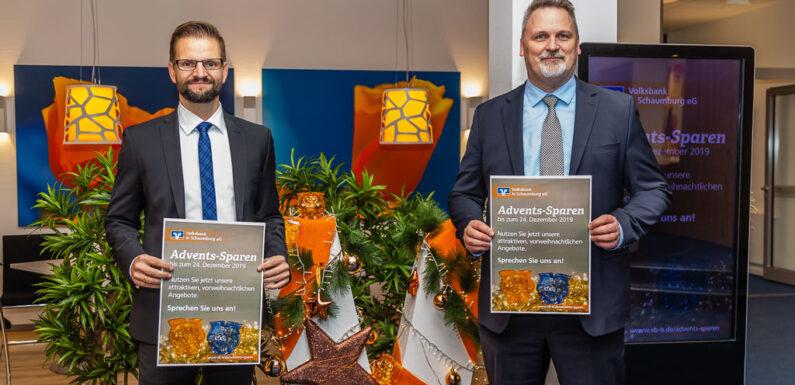 Rechtzeitig vor Niedrigzinsen schützen: Volksbank in Schaumburg startet Advents-Sparen
