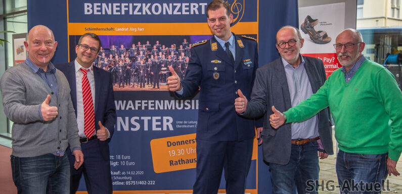 Benefizkonzert des Luftwaffenmusikkorps Münster im Rathaussaal Bückeburg