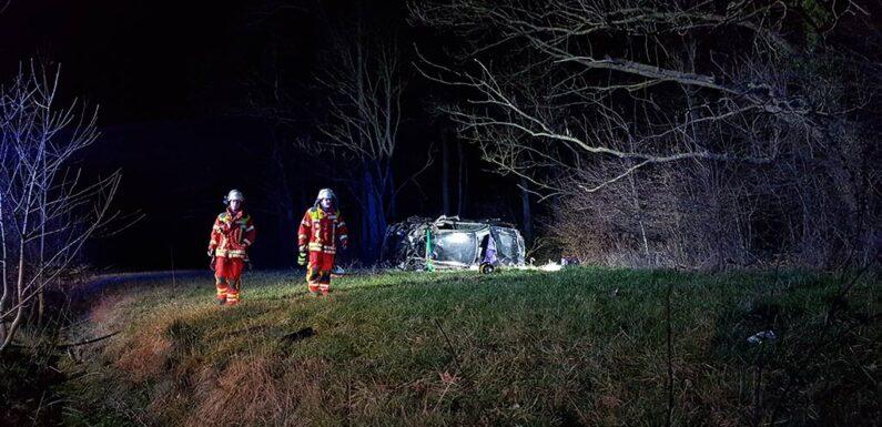 Schwerer Verkehrsunfall auf der B65
