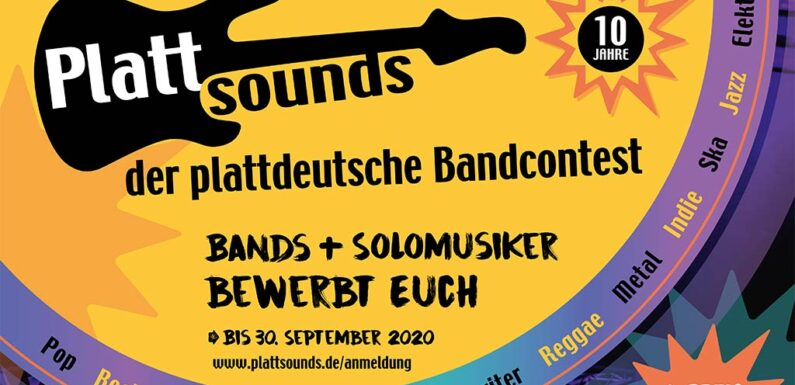Finale des 10. Plattdeutschen Bandcontests wird als Live-Stream übertragen