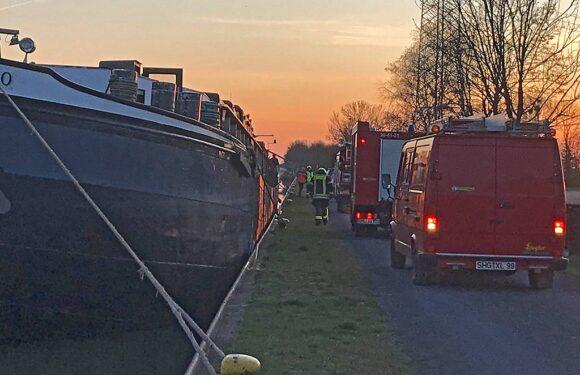 Sachsenhagen: Verletzte Person auf Binnenschiff