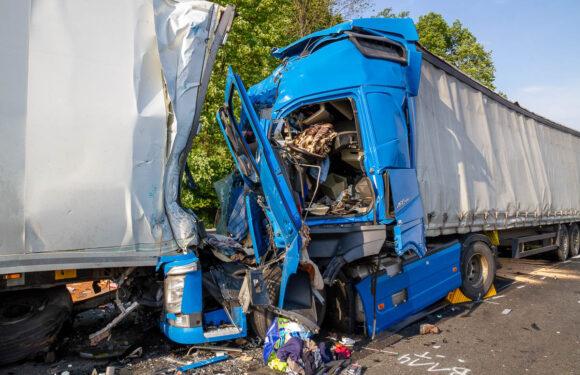 Schwerer A2-Unfall zwischen Bad Eilsen und Veltheim: LKW auf Stauende aufgefahren