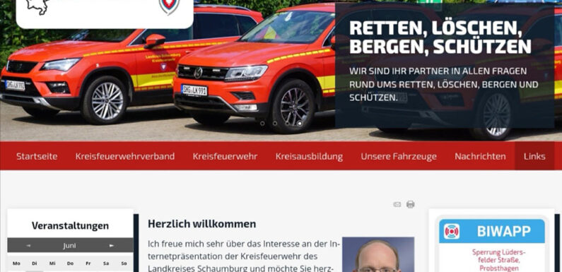 Kreisfeuerwehr Schaumburg zeigt neue Internetseite