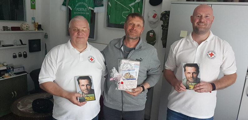 DRK-Vorstand trifft ehemaligen Fußballprofi und Nationalspieler Uli Borowka