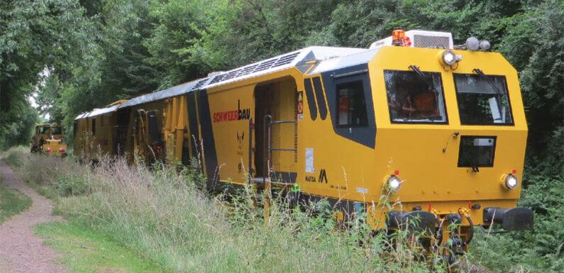 Neue Gleisstopfmaschine in Obernkirchen erprobt