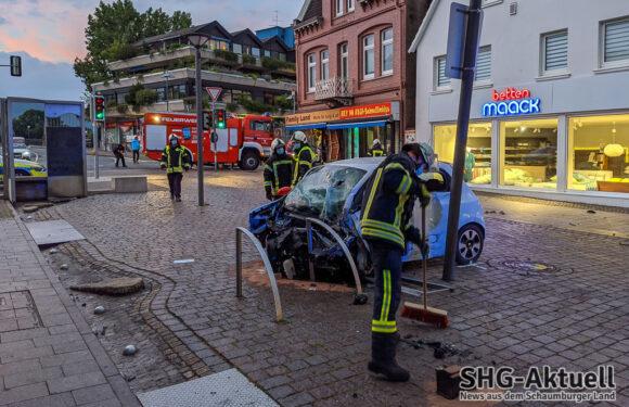 Unfall: Auto rast in Rintelner Fußgängerzone