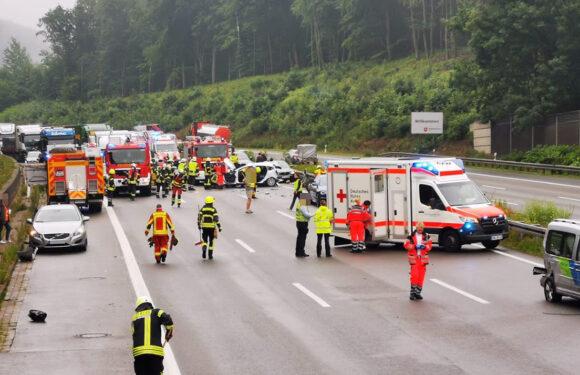 Schwerer Verkehrsunfall mit Todesopfer auf der A2 bei Bad Eilsen