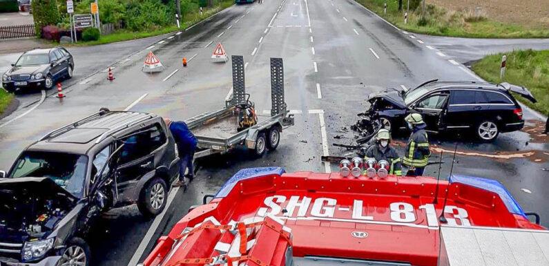 Schwerer Unfall: B 83 bei Bad Eilsen gesperrt
