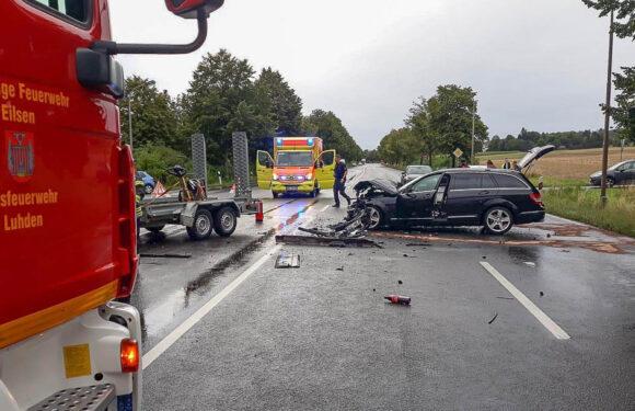 Update: Schwerer Unfall auf B83 bei Bad Eilsen