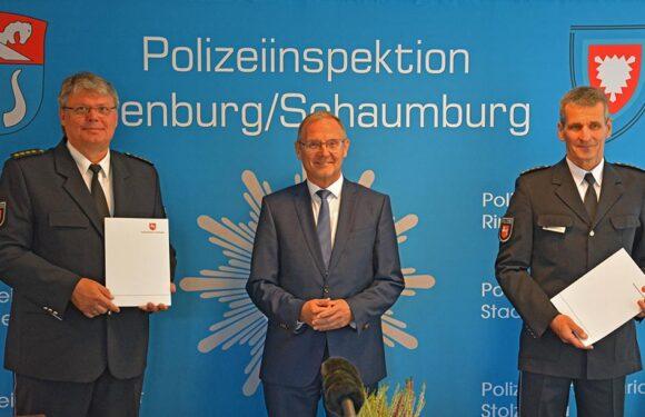 Abschied nach 23 Jahren: Mathias Schröder wird Nachfolger von Frank Kreykenbohm als Leiter der Polizeiinspektion Nienburg/Schaumburg