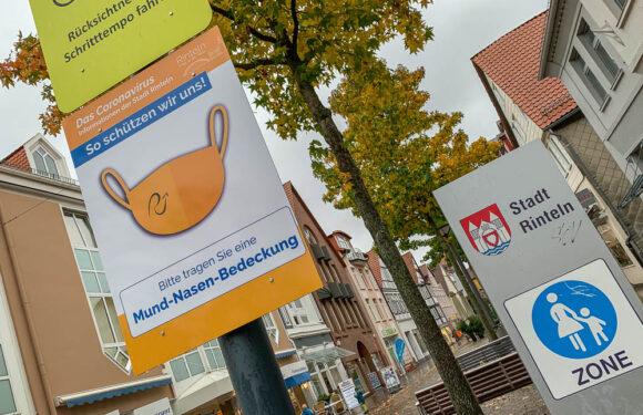 Rinteln empfiehlt Maske in der Fußgängerzone