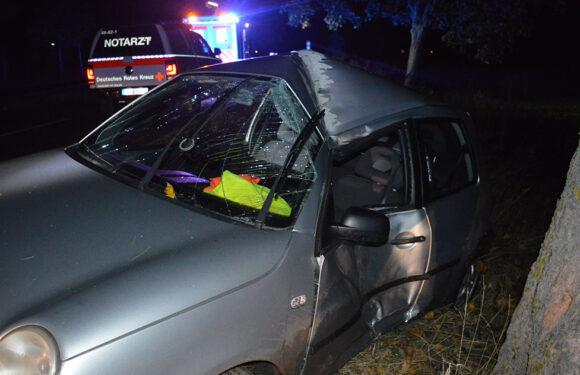 Auto prallt gegen Baum: Fahrer (21) schwer verletzt