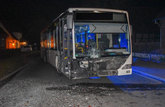 Linienbus rammt Transporter: Busfahrerin verletzt, 80.000 Euro Schaden