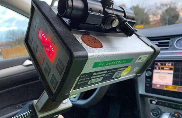 Geschwindigkeitsmessungen der Polizei