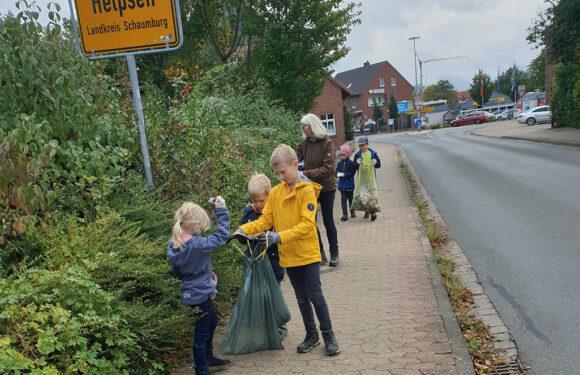 Kontaktstelle Ehrenamt unterstützt Seggebrucher Hort bei Müllsammelaktion