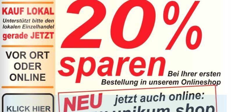 Unikum Rinteln: 20 Prozent Rabatt auf erste Online-Bestellung