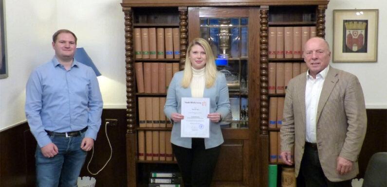 Mareike Iselt ist neue Standesbeamtin für den Standesamtsbezirk Bückeburg