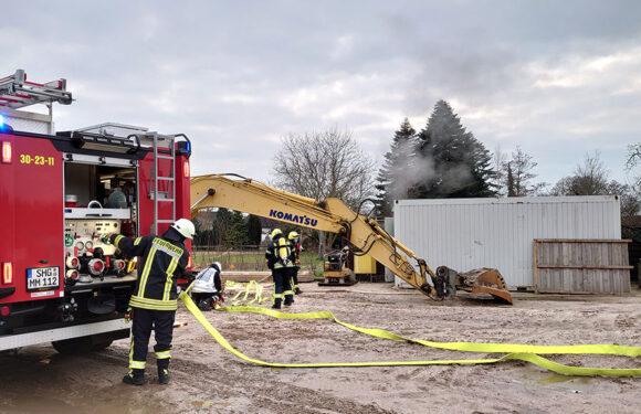 Brand an Baucontainer: Zeugenaussage hilft bei Tataufklärung