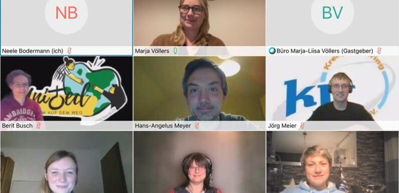Digitales Treffen mit Vertretern der Kreisjugendringe Nienburg und Schaumburg