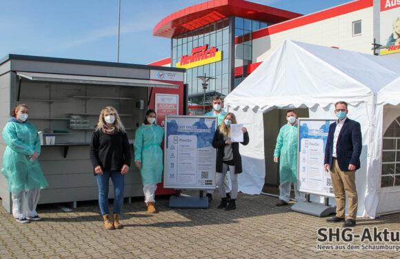 Bis zu 500 Tests am Tag: Corona-Schnelltestzentrum mit Drive-In bei Möbel Heinrich in Bad Nenndorf