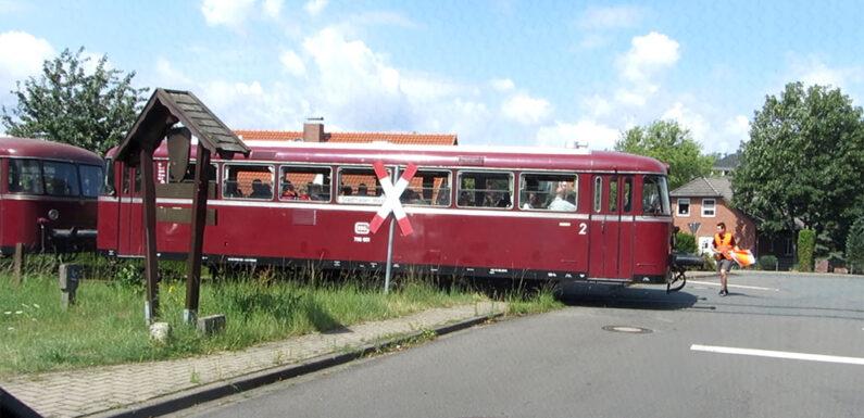 Mit dem Schienenbus von Rinteln nach Obernkirchen und zurück