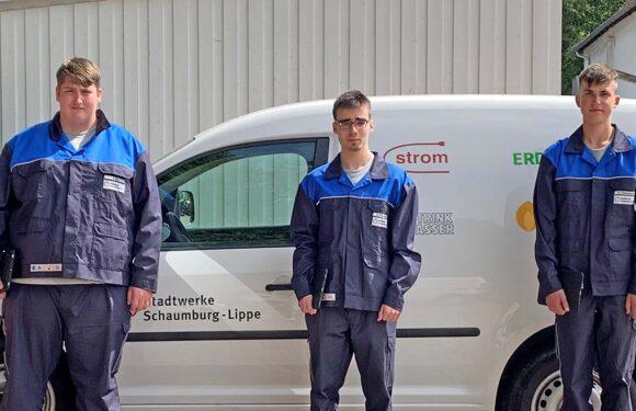 Fachkräftemangel vorbeugen: Drei neue Azubis bei Stadtwerken Schaumburg-Lippe