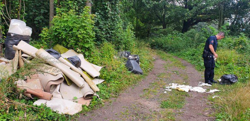 Diesmal in Nienstädt: Große Mengen Müll in der Umwelt abgeladen