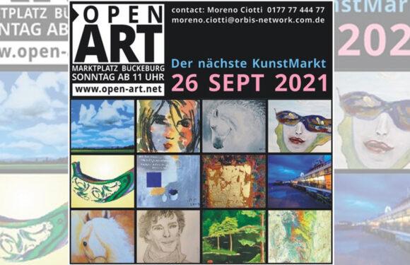 2. OpenART Kunstmarkt auf dem Marktplatz in Bückeburg