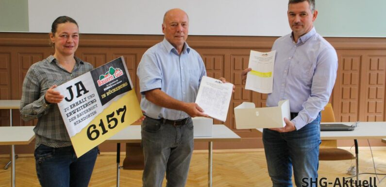 Bückeburg: Bauerngut-Mitarbeiter übergeben 6157 Unterschriften an Bürgermeister Reiner Brombach