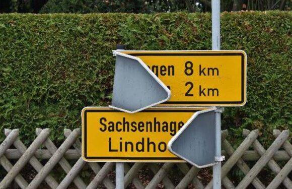 Lindhorst: Verkehrszeichen umgeknickt